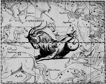 Capricorn Constellation, by Hevelius.